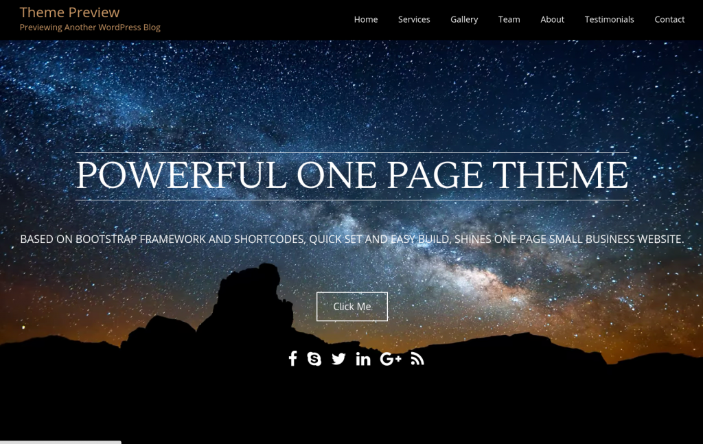 Onetone WordPress Theme